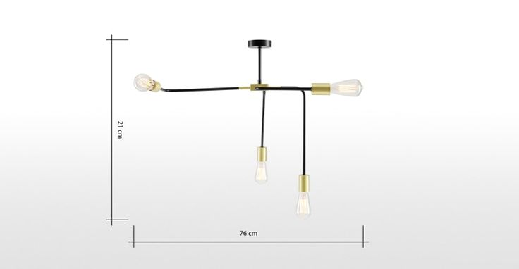 Sian Pendant Lamp Black And Brushed Brass In 2020