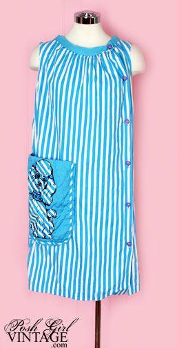 60s adorable blue poodle shift dress