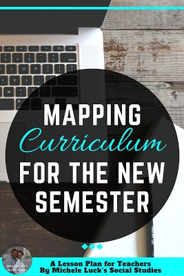 Tips and Ideas for curriculum mapping to make unit and lesson planning easier in the secondary classroom. A great read for back to school or starting the new semester. #curriculummap #lessonplanning