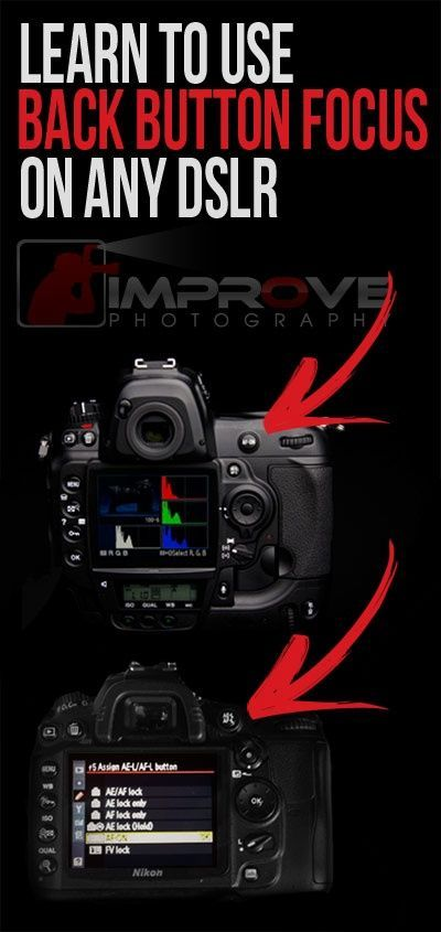 Learn to use back button focus on any DSLR ~~~Great photography tip on back button focusing for sharper photos
