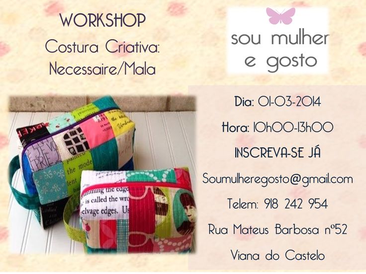 Workshop Costura Criativa- Necessaire