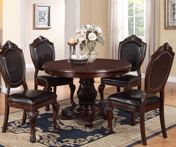 Tabitha Dark Cherry Finish Formal Dining Room Set: 57 Best Formal Dining Tables Images On Pinterest
