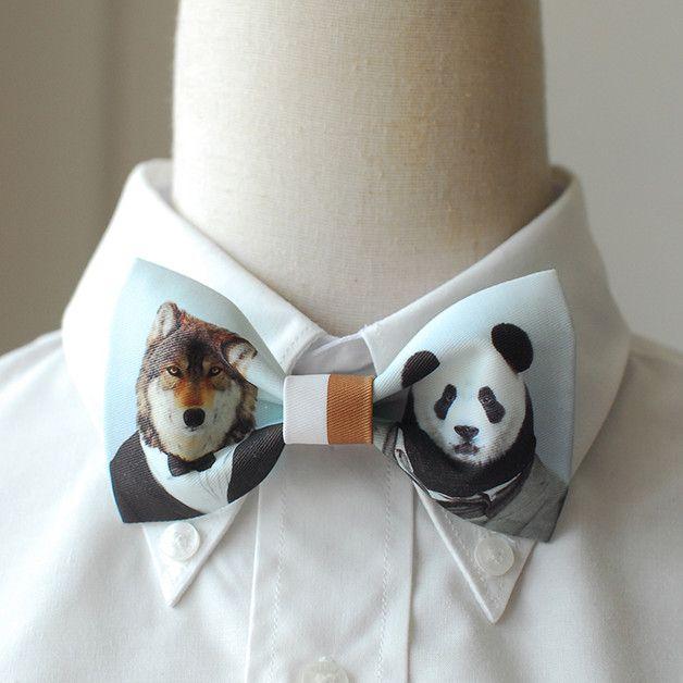 Pajaritas - Bear and Panda bow tie - hecho a mano por Clarkwong en DaWanda #moda #hombre #modamasculina #bisuteríahombre #pulserashombre #DaWanda #fashion  #hechoamano #diseño #handmade #DIY