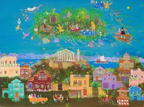 "The Art Cellar: ""Μύθοι Πρόγνωσης"" Έκθεση ζωγραφικής της Σοφίας Καλ..."
