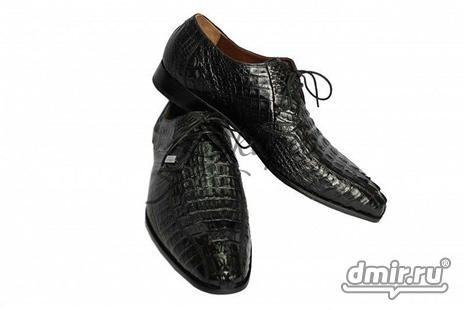 Ботинки Амфибии из кожи c перфорированными узорами