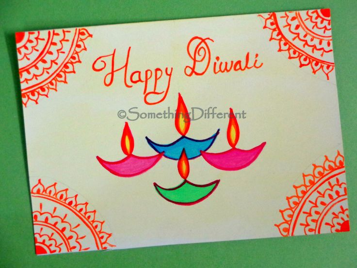 How to make a diwali greeting card diwali greetings handmade cards diwali greeting card m4hsunfo