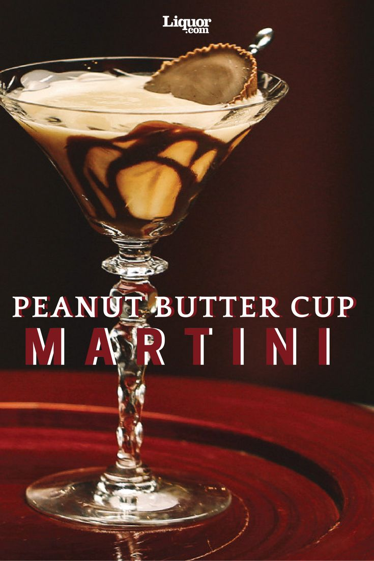 The Peanut Butter Cup Martini is Dessert in a Glass! Vodka + chocolate + rum = yum!