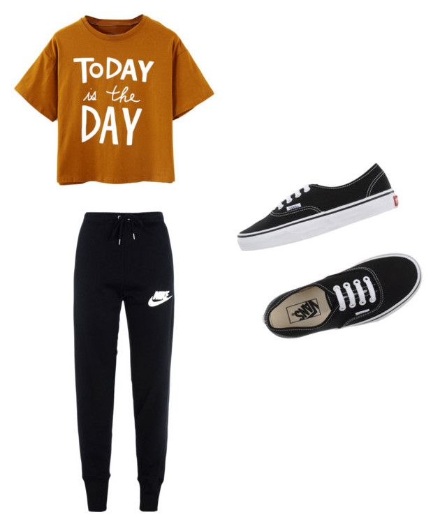 Untitled #1 by branda-eggert on Polyvore featuring polyvore, fashion, style, NIKE, Vans, women's clothing, women's fashion, women, female, woman, misses and juniors