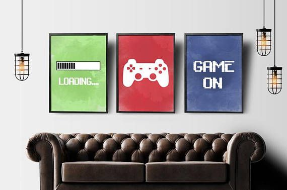 Video Game Wall Art Gaming Wall Art Set Of 3 Gaming Prints Set Gaming Room Decor Printable Wall Art Video Game Party Video Game Poster Gaming Wall Art Video Game Wall