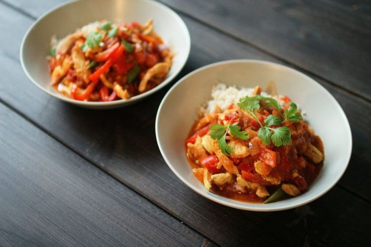 Oppskrift: Kylling i rød curry!