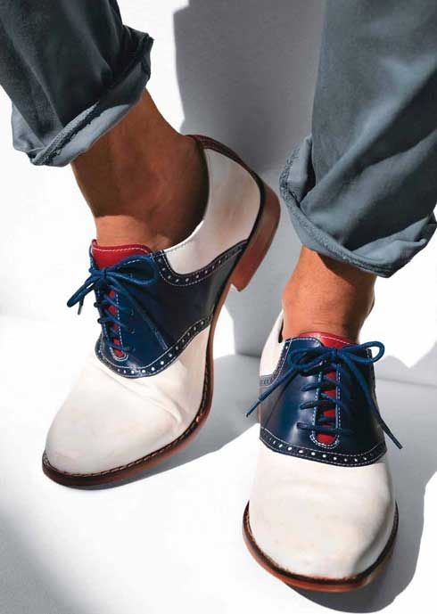 GQ endorses the return of the saddle oxford shoe.  I couldn't be happier.  Cole Haan sells this for $198.00