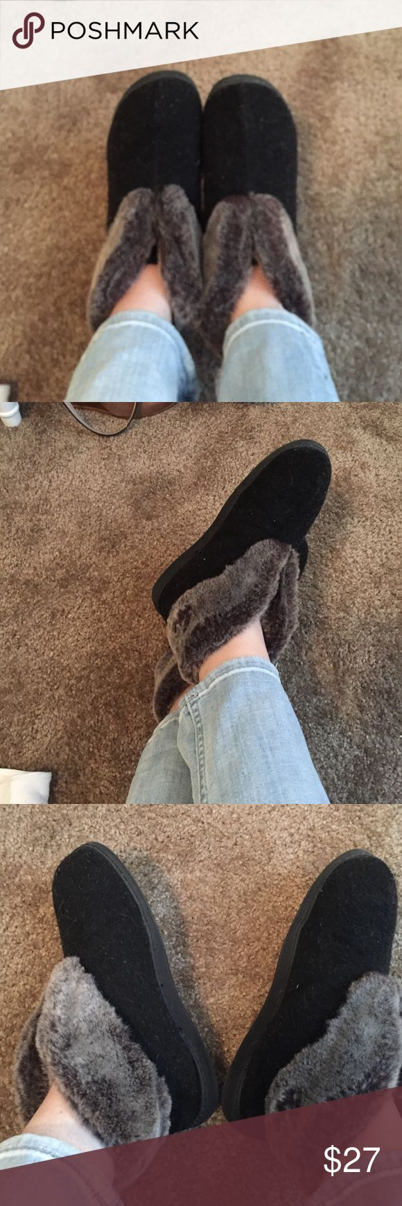 Acorn Earth Faux Fur Slipper These are sooo warm and high quality. I can't wear them in the 🌵 desert weather here. Cute as house shoes, durable and will last for several years. Very comfortable and fits a 6.5-7.5. Offers are welcome and bundling available as well! Acorn Shoes Slippers
