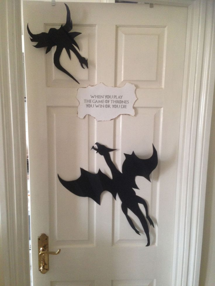 Game of Thrones Party Set - Decorations Medieval Halloween Fancy Dress | eBay Dragon Cutouts