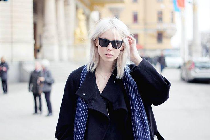 KAIBOSH | Hilde wears CHIPS & SALSA sunglasses in BLACK / TOBACCO STAIN