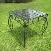 Found it at Wayfair - Mandalay Iron Patio Side Table
