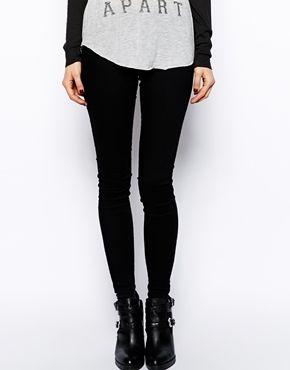 Image 1 - ASOS - Jameson - Jegging en jean taille basse - Noir pur