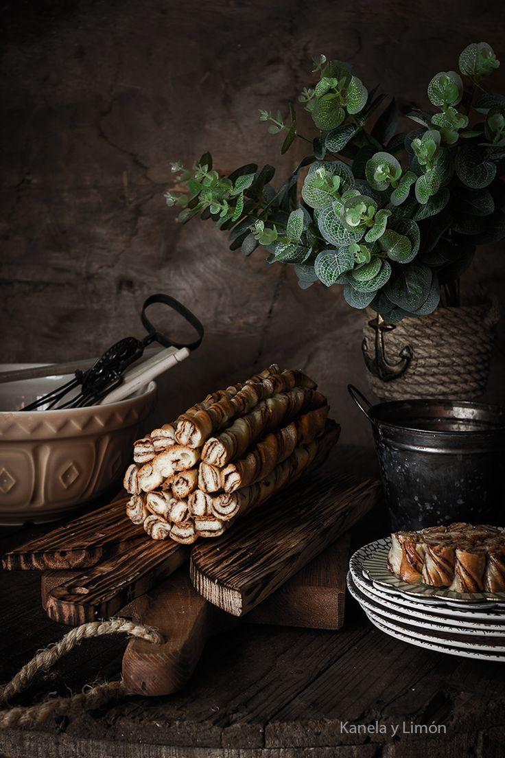 Pan marmolado en espiral (con nutella y chocolate)
