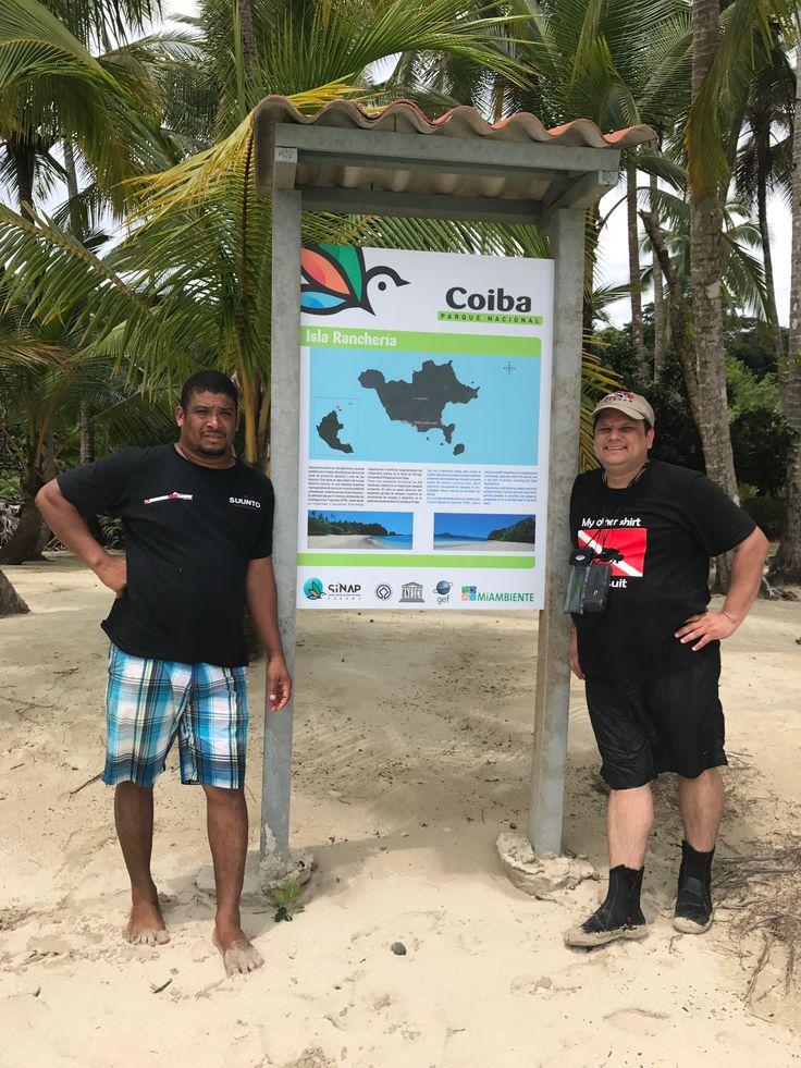 With Oriel Abrego in Ranchería Beach in Coiba National Park, Veraguas Province, Panama