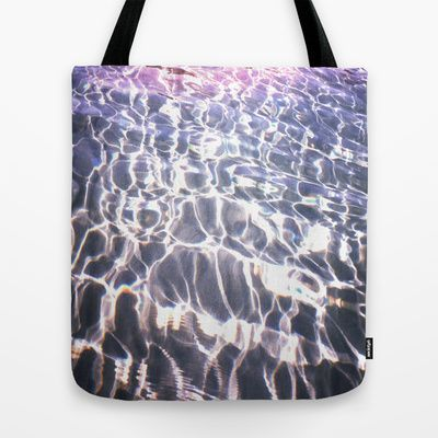 Lights into Water Tote Bag by Aziza Vasco - $22.00