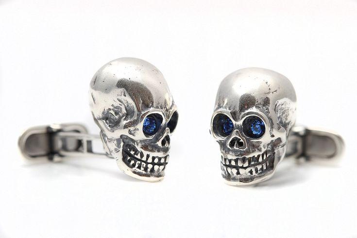 Sterling Silver Skull cufflinks NEW by StartJewellery on Etsy