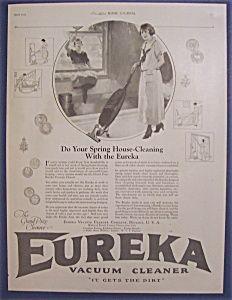 Vintage Ad: 1923  Eureka  Vacuum  Cleaner. The Eureka Vacuum today: http://www.redhillgeneralstore.com/housewares/floorcare/Eureka-Vacuum-Cleaners.htm