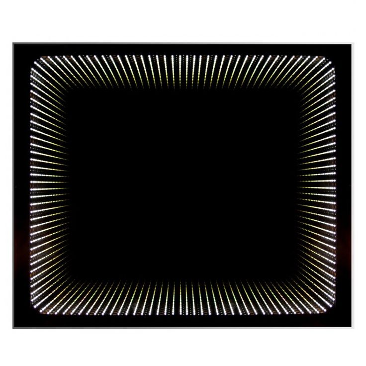 Backlit Bathroom Mirror with LED Lights and 3D effect