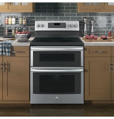 """GE® 30"""" 6.6 Cu. Ft. Free-Standing Double Oven Electric Range with Convection"""