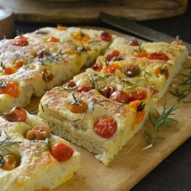 Summer Tomato Focaccia Bread is a super easy and foolproof recipe