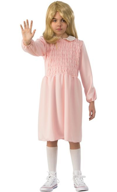 In the Stranger Things Eleven Pink Dress Costume for girls, your little one may …