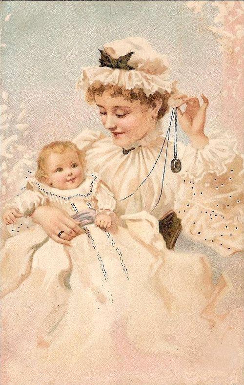 Винтажные, старые открытки маме с днем рождения