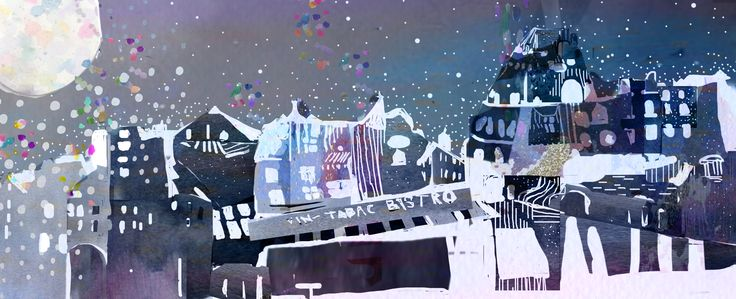sparkling city illustration