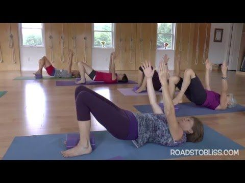 Chatush Padasana (Four-Footed Pose) variation withSenior Iyengar Yoga Teacher Carrie Owerko Balance – serie 1 of 5