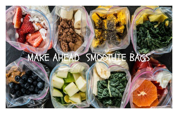 Make Ahead Smoothie bags