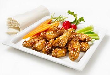 Ailes de poulet soya, miel et gingembre