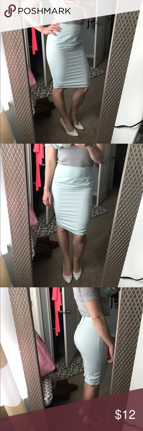 Tiffany blue pencil skirt So adorable very gently worn Skirts Pencil