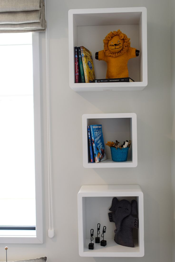 Great little cubby holes for storage and some excitement on the walls of a kid;s bedroom