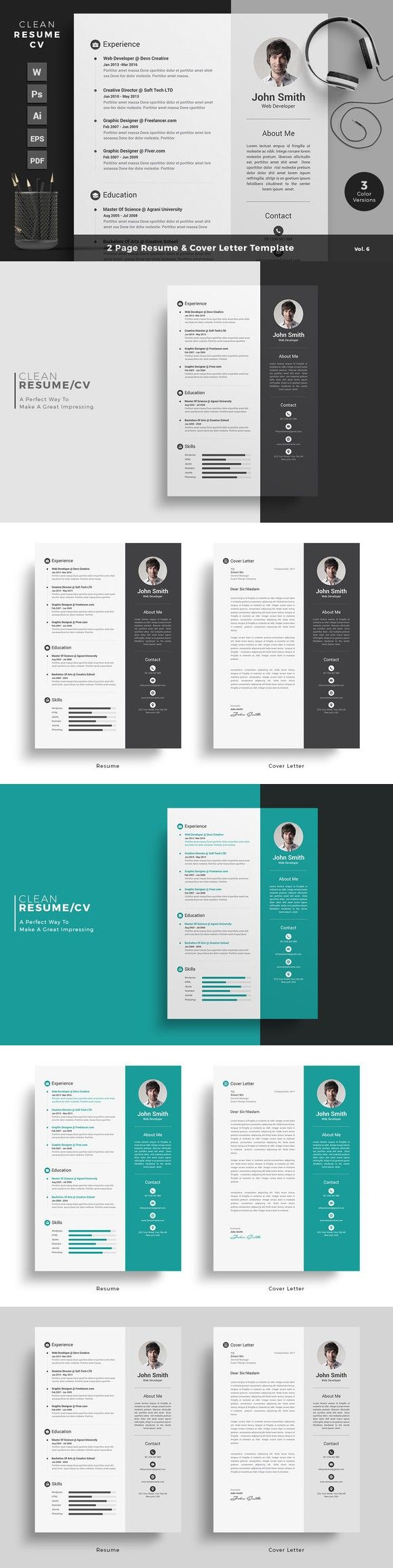 25 best cv images on Pinterest | Resume design, Design resume and ...