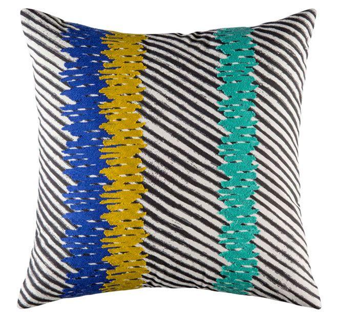 Kas Zane 45x45cm Filled Cushion Blue
