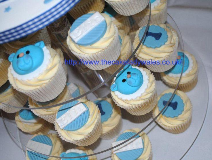 Teddy Christening Cake & Cupcakes