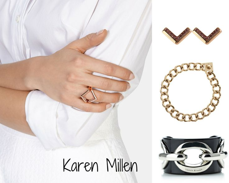 KAREN MILLEN (MidRange): Despite not being mainly a jewelry brand, I think Karen Millen carry a great accessory range. Their items are easily wearable for the everyday life but what is special about them is that they can be worn in the evening as well. They include basic pieces such as chain necklaces but also statement ones, an example being the chain, punky cuff.