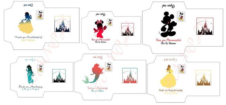 Simple Mousekeeping tips envelopes. What do you think? : WaltDisneyWorld