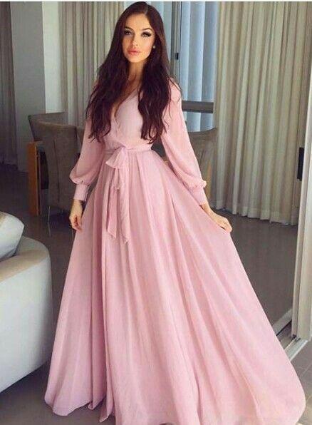 Blush pink maxi dress