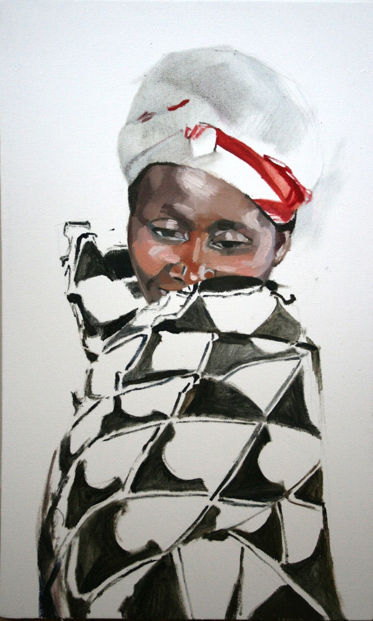 "Memoirs of Congo, Larissa Doll ""Victim""  Oil on Canvas,  61cm x 37.5cm,  2011"