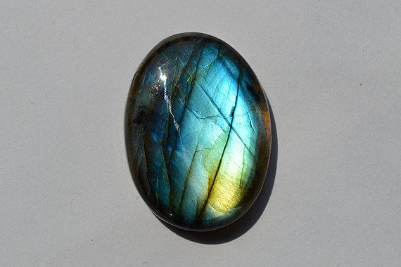 41.5 Cts Natural Blue Fire Labradorite Cabochon Both Side Polished Oval Shape Labradorite Loose Gemstone 32x23x6.6 MM R06284 by JAIPURARTMART on Etsy