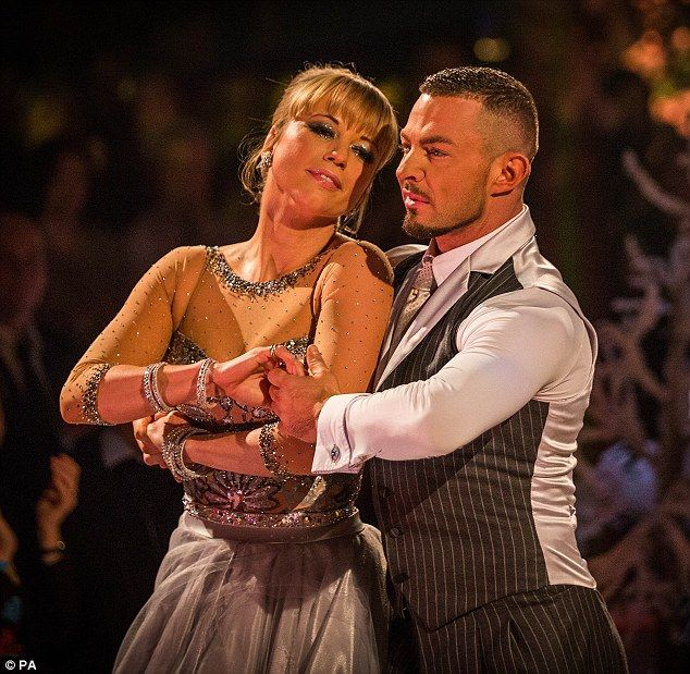Neckline & Sleeves - Wowing Waltz: Sara Cox with Robin Windsor on Strictly Come Dancing Christmas Special