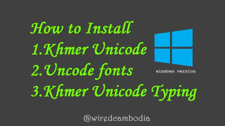 [word 101]#13 How to install Khmer Uncode, Unicode Fonts and Khmer Unico...