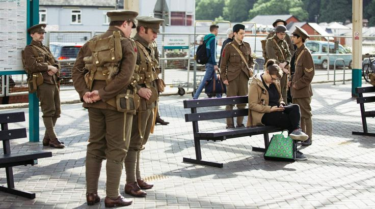 we're here because we're here - WW1 Ghost Soldiers 100 year commemoration of the start of the Somme.