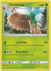 Decidueye 11/149 Rare - Pokemon Sun & Moon Base Set Single Card