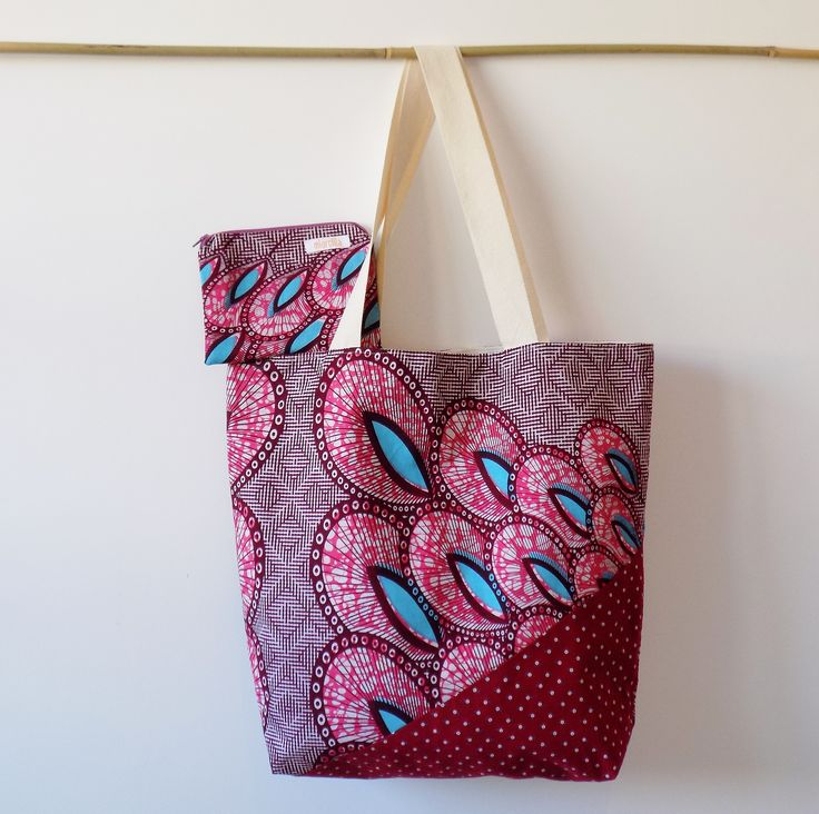 Summer bag & purse, handmade in Italy using real wax cotton fabric
