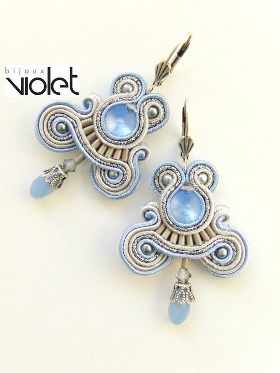 Soutache EarringsBlue Maniac by Violetbijoux on Etsy, $59.00